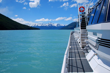 Tour boat on Lago Argentino in Los Glaciares National Park