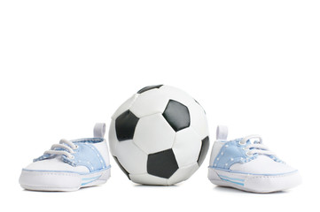 Football / Soccer Ball With Baby Shoes