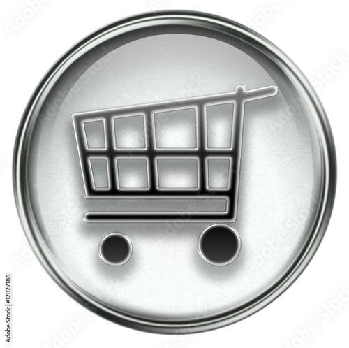 shopping cart icon. shopping cart icon grey,