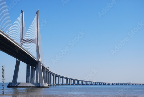 'Vasco da Gama' Bridge over River 'Tejo' in Lisbon (Horizontal) - 12830930