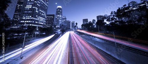 Poster Los Angeles Highway city traffic