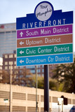 Directional signs for touring downtown Memphis, Tennessee poster