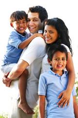 Happy Family Smiling Portrait
