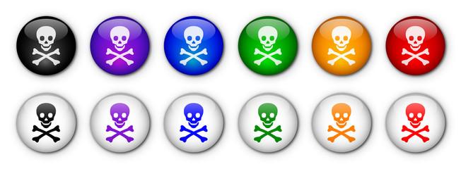 "Boutons ""Danger"" (x12 - multicolores)"