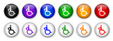 Disabled Sign Buttons (x12 - various colours)