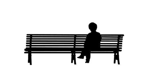 vecchia sulla panchina
