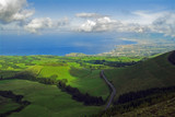 Viewpoint to the north from Pico do Carvão, San Miguel, Azores poster