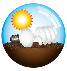 Eco lightbulb globe concept