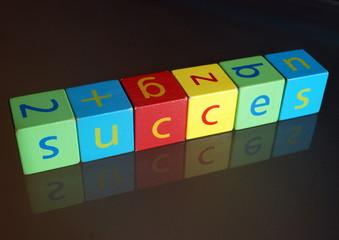 """""""Succes"""" II (cubes en bois avec reflet)"""