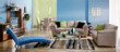 Leinwanddruck Bild - home indoors