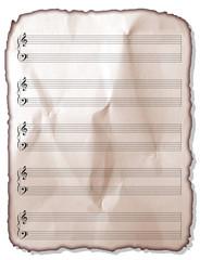 Pentagramma Foglio-MusicSheet-Feuille Musique