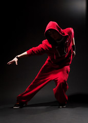 stylish dancer in red