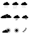 Vector Weather Forecast Icon Set poster