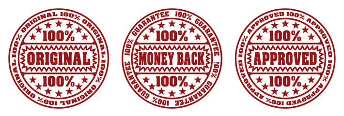Original, money back, approved