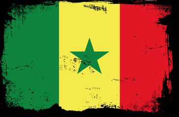 grunge flag - senegal