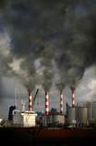 Smokestacks Blowing Pollution poster