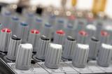 Audio control console poster