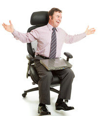 Spinning in Ergonomic Chair
