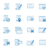 Database web icons set 1, blue series poster