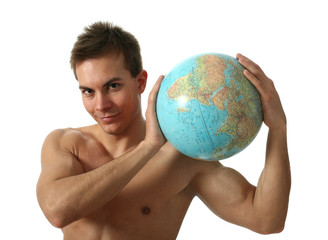 Young Man with a Globe