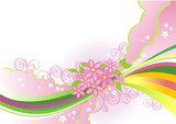 abstract flower background / vector / layers are separated! poster