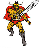 Viking superhero poster