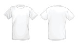 Fototapety White vector T-shirt design template (front & back)