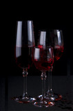 Glasses for wine, martini, vodka etc
