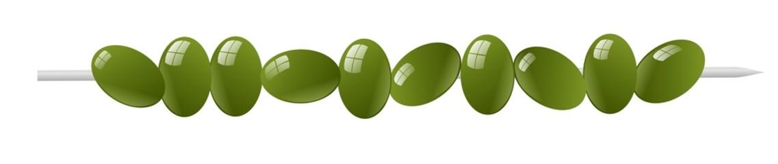 spiedino di olive verdi