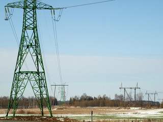 High voltage power lines 110 - 330 kiloVolts