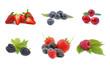 süße leckere erdbeeren, brombeeren, himbeeren,....