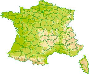 FRANCE Département - Vecteurs