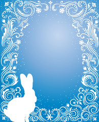 Blue easter background.