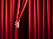 Leinwanddruck Bild - opening the curtain