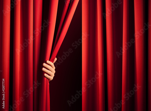 opening the curtain - 12877734