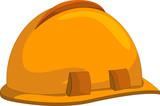 Construction hardhat poster