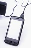 téléphone portable tactile en charge poster