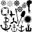 ship stuff vector silhouettes