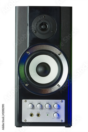 Sound speaker in disco style