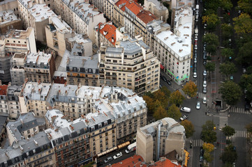 the paris`s housetops and crossroads