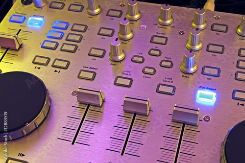 DJ control panel - music mixer
