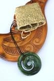 Greenstone Maori Koru Pendant poster