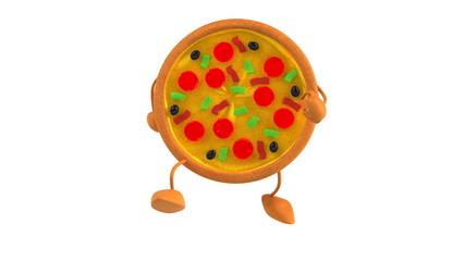 Pizza qui marche