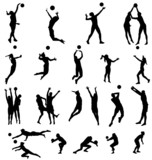 Fototapety volleyball silhouettes collection