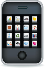 Mobile phone touch screen black