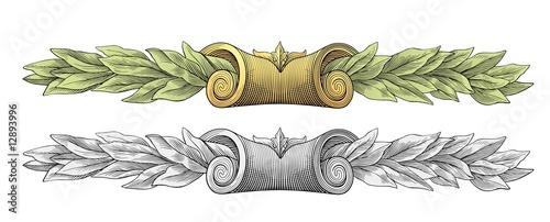 Laurel wreath vector - 12893996