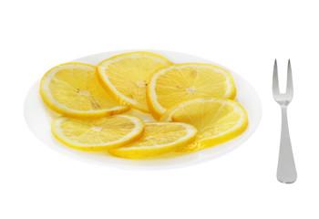 Lemon on the plate
