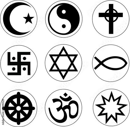 the vector religion symbol set