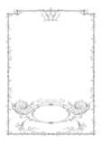 engraving frame ornament vector poster