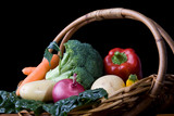 Fresh Vegetables In Basket